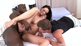 Laura Davis enjoys interracial anal sex in front of her Cuckold husband
