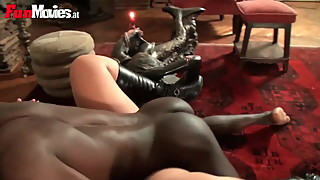FunMovies Chubby German housewife cuckold with a big black m