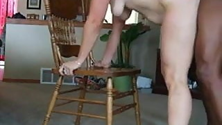 Housewife riding big black dick