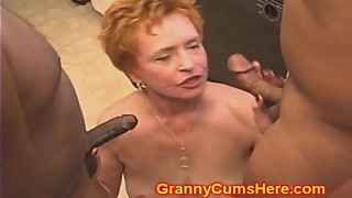 Whoring GRANNY gets FUCKED in Kitchen
