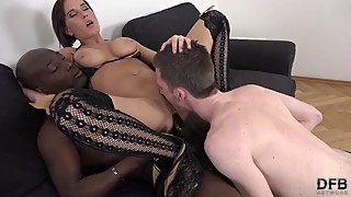 Girlfriend Anal Sex she wants Interracial ass hard