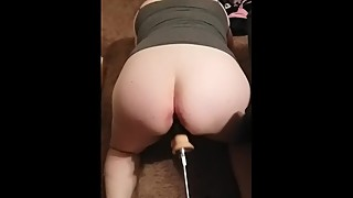 Wife gets fucked by machine BBC attachment and cums!