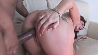 Brittany Blaze bends over and takes a black cock