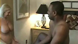 Older Housewife Choking On Massive Black Cock