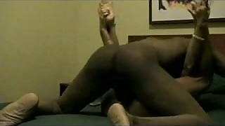 Blonde hotwife fucks her black bull in a hotel room