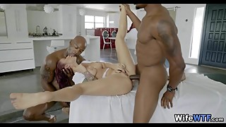Wife gets 2 Black Cocks at the Spa