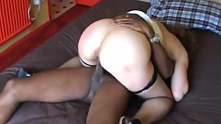 mature wife is happy with her black friend