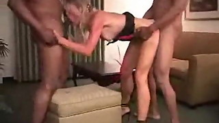My MILF exposed Trashy wife double teamed by 2 BBC Bulls
