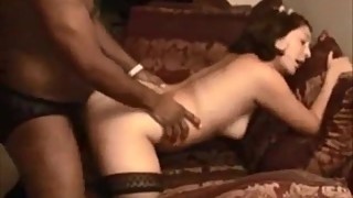 Shy HotWife Takes her First BBC and Creampie Hubby Films