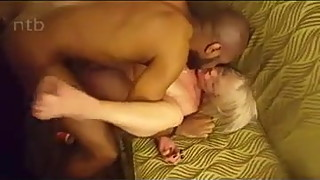 Hubby films his tatted wife with BBC