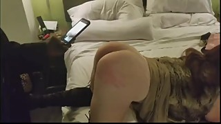 Hotwife spanked by girlfriend and bull