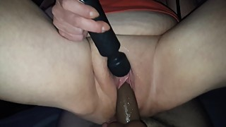 Wife bouncing on bbc dildo on new sex swing