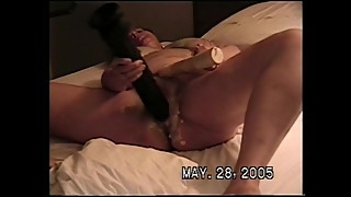 Cheating white wife with toys