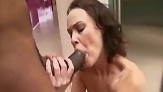 Horny housewife fucked by black voyeur