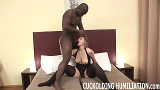 Watch me try to choke down his massive cock