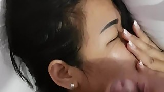Wifes first time facial